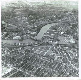Thornaby, an aerial shot before the A66 was built though it