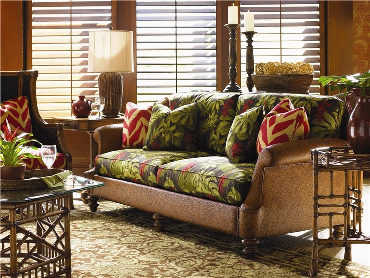 Island Estate Loose Back Hamilton Wicker Sofa By Tommy Bahama Home   Baeru0027s  Furniture   Sofa
