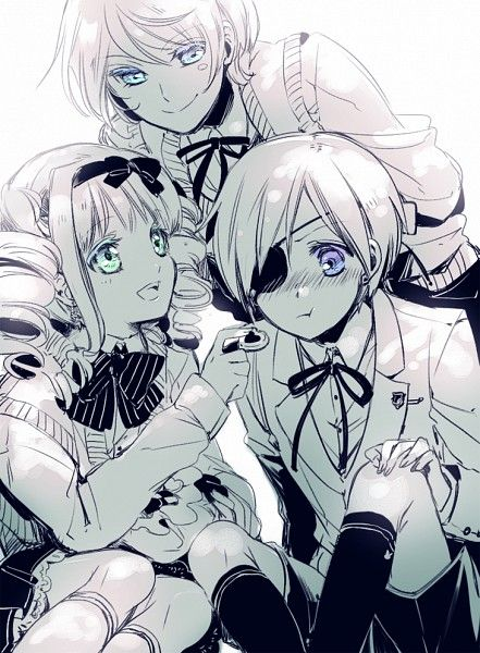 Looking at this picture would probably make you think Black Butler is a happy story full of innocence and kind people.   Spoiler alert: It's not.