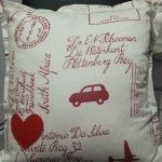 Postage Stamp Red on Cream