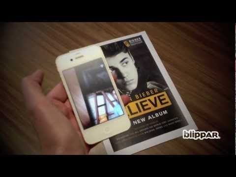 Justin #Bieber's new album cover uses #augmented reality to market tickets and music. Great idea from #Blippar