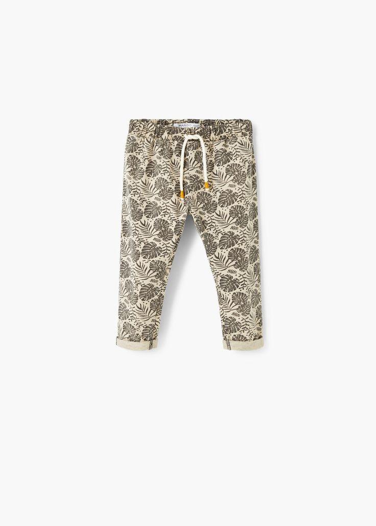 Katoenen broek met print -  Kinderen | MANGO Kids Nederland