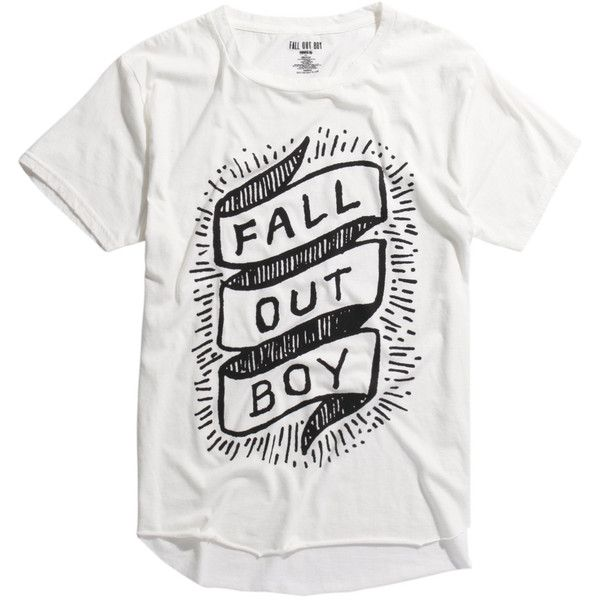 Hot Topic Fall Out Boy Banner Logo Raw Edge Tri-Blend T-Shirt ($10) ❤ liked on Polyvore featuring men's fashion, men's clothing, men's shirts, men's t-shirts, tops, mens long sleeve t shirts, mens collared shirt, mens long sleeve shirts, mens collar t shirts and mens lightweight shirts