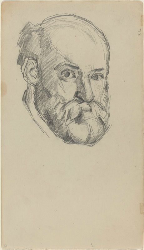 Paul Cézanne, French, 1839 – 1906, Self-Portrait, 1880 -1882, graphite. National Gallery of Art, Washington, Collection of Mr. and Mrs. Paul Mellon, 1985.