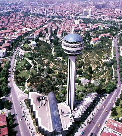 Atakule is a 125m High Communications and Observation Tower Located in the Cankaya District of Central Ankara, Turkey, and is One of the Primary Landmarks of the City