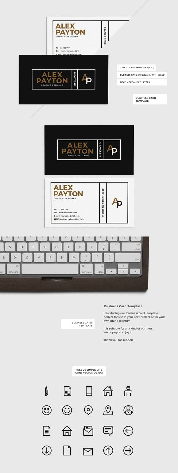 272 best business card templates images on pinterest business modern business card template reheart Choice Image