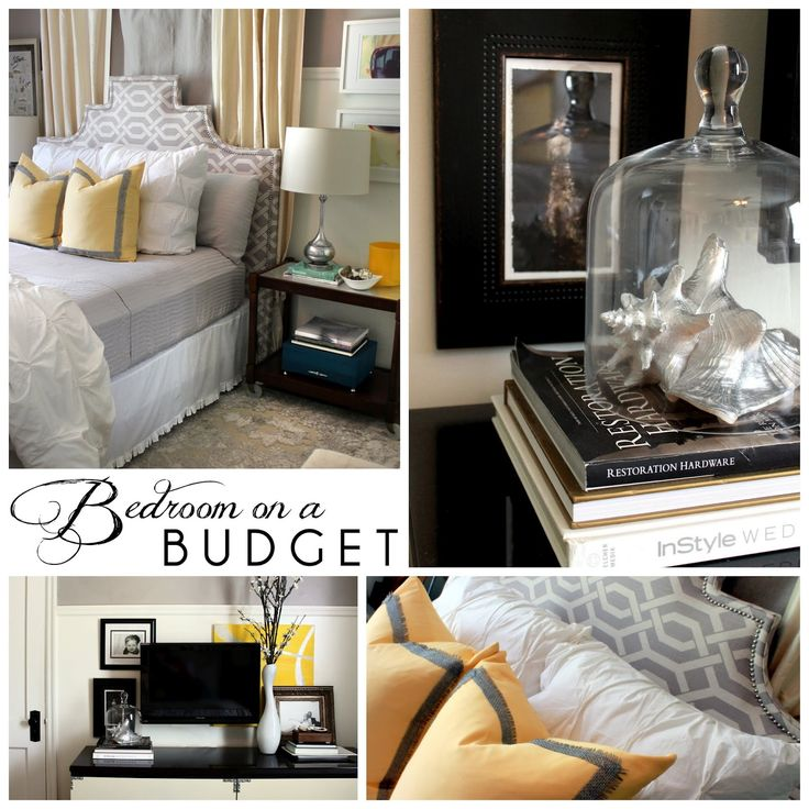 the HUNTED INTERIOR: Bedroom on a Budget, love the colors and patterned headboard