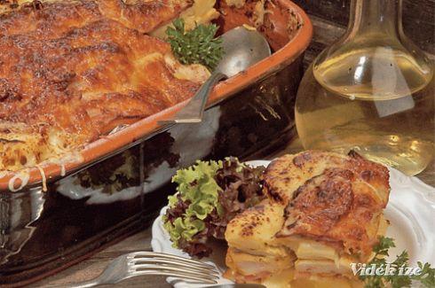 Ananászos csirkemell római tálban