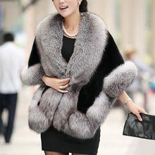 2016 Bufanda de Invierno de la marca de Moda de lujo Faux fox Cuello de piel de Cuello Chal Bufanda de Las Mujeres Bufandas del abrigo de La Estola(China (Mainland))