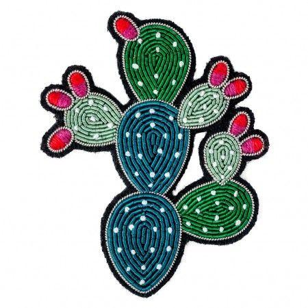Broche Cactus fleuri