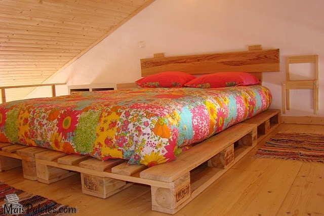 Camas feitas com paletes de madeira paletes pallets - Camas con palets ...