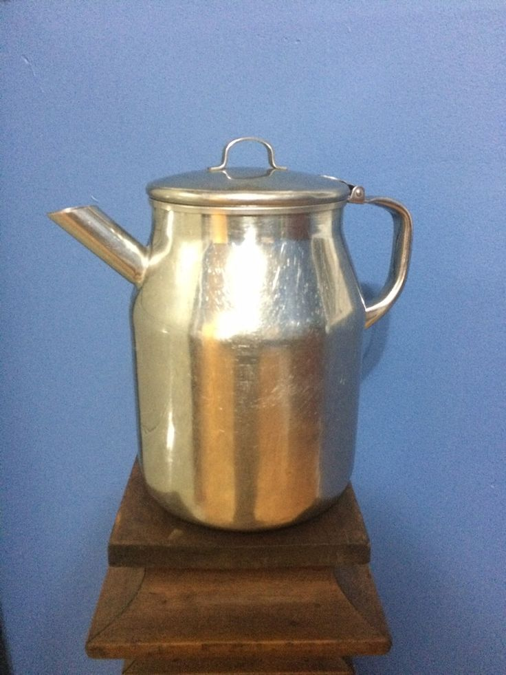 Vintage Vollrath Stainless Steel Hinged Lid 64 oz.  Water Pitcher USA by VintageFunkHouser on Etsy
