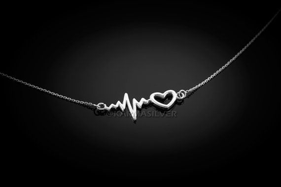 Hey, I found this really awesome Etsy listing at https://www.etsy.com/listing/255861903/sterling-silver-heartbeat-necklace