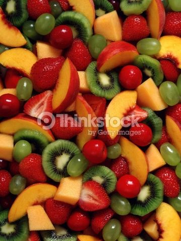 Stock Photo : Assorted fruit salad