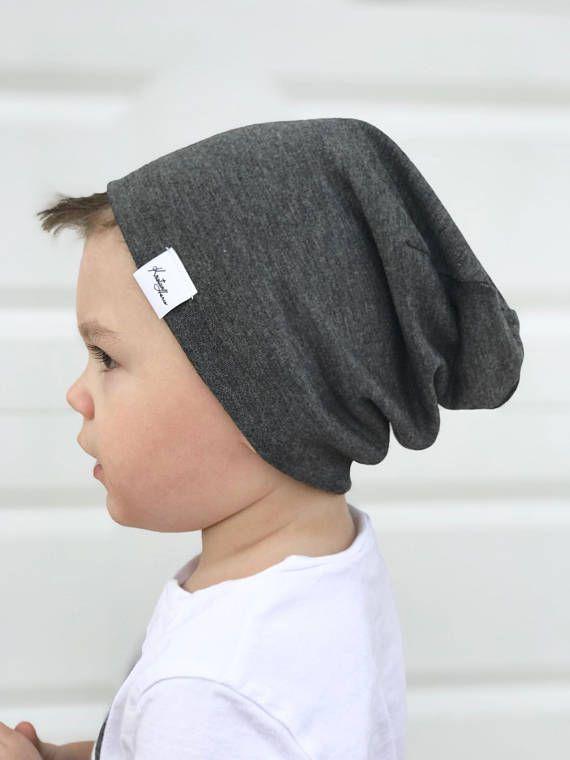 Grey beanie/ Boy slouchy beanie/ baby slouchy beanie/ grey slouchy beanie/ toddler beanie/ hipster hat/ kids slouchy beanie/#ad