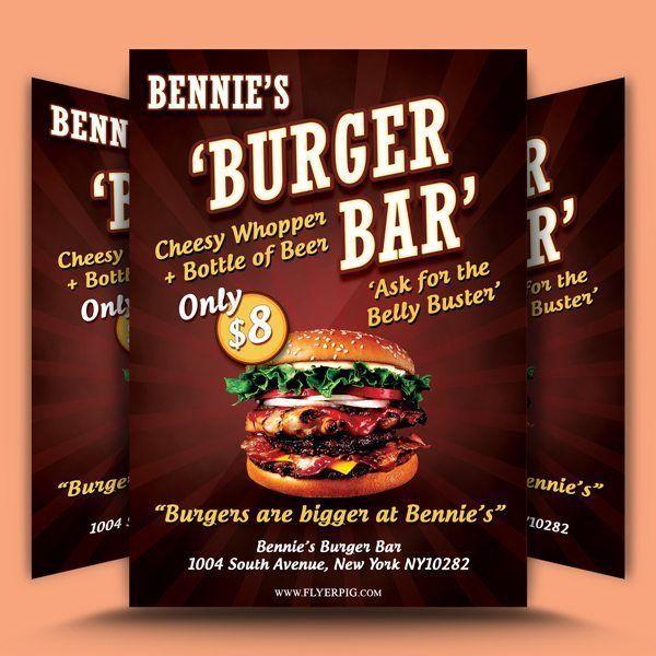 Bennie's Burger Bar Flyer Template