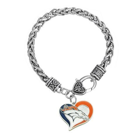 Skyrim HIPHOP Denver Broncos Men Bracelet Football Jewelry