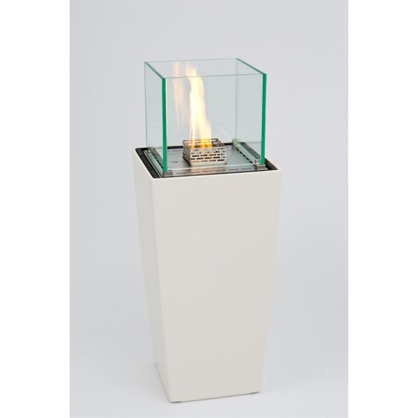 White Decoflame Nice Lounge bio fireplace @ inamus.com - The biggest fireplace catalog in the world. #fireplace