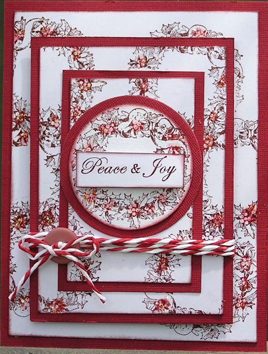 Triple Stamping Christmas card