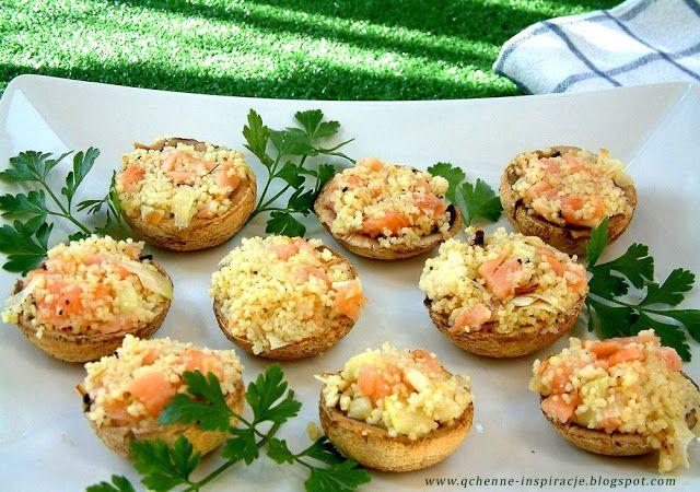 Qchenne-Inspiracje! FIT blog o zdrowym stylu życia i zdrowym odżywianiu. Kaloryczność potraw. : Pieczone faszerowane pieczarki. Smaczna przekąska ...