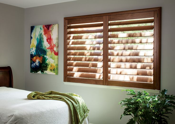 these 4 teak wood shutters are a great option for bedrooms offering large slats means you have better control over the light in the room