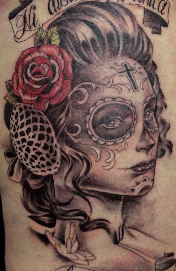 3073c0452 Best Day of the Dead Tattoos - CreativeFan #bestgirltattoos | Great ...