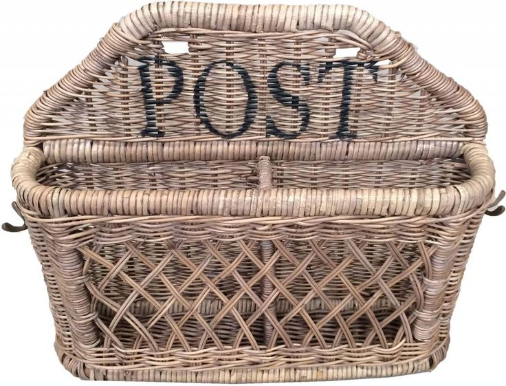 ROTAN-WOONACCESSOIRES: Deze rotan postmand breng echt sfeer in huis