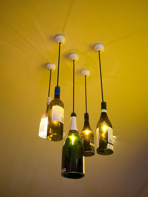Bottle Lights- above bar area in my dream home