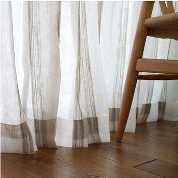 Trasporto libero della finestra voile screening grigio colore stripe tinti in filo tende per la camera da letto, moderno tenda della finestra