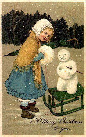 1000+ images about Snowmen ~ Vintage on Pinterest | Vintage winter ...