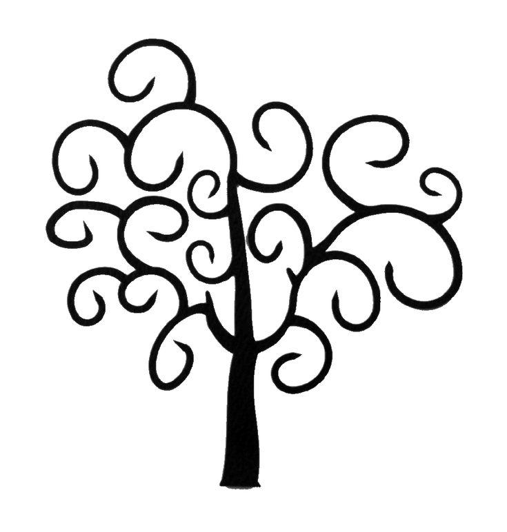 simple swirl tree tattoo