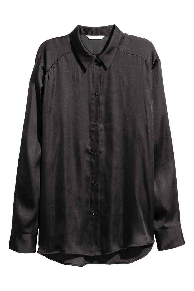 Satijnen blouse | H&M