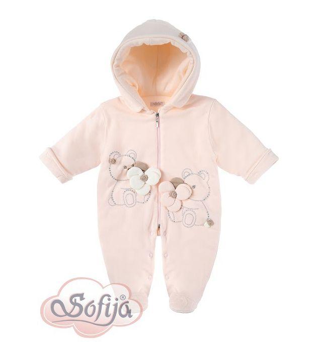 Ocieplany pajac dla dziewczynki Cekinka   www.sofija.com.pl  #sofija #dziecko #ubranka #niemowlęta #kinder #kinderkleidung #baby #children #kids