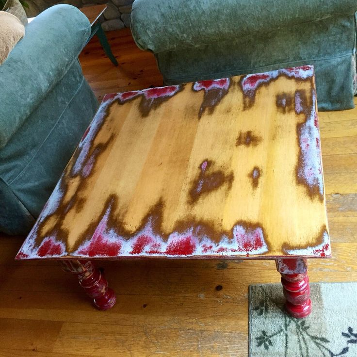 Large Farmhouse Red Coffee Table, w/ hidden drawer, shabby chic coffee table, solid wood distressed red base, vintage, french country by ReincarnatedwithLove on Etsy https://www.etsy.com/listing/255090920/large-farmhouse-red-coffee-table-w