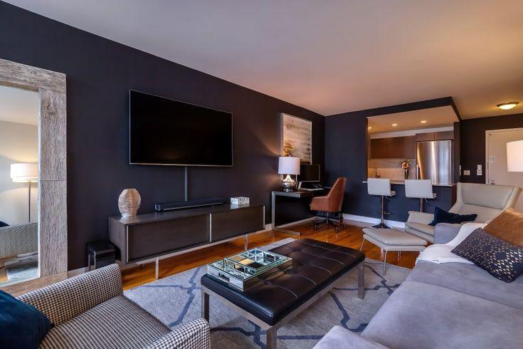 Before After Modern Bachelor Pad Design Decorilla Online Interior Design Bachelor Pad Living Room Living Room Modern Manly Living Room