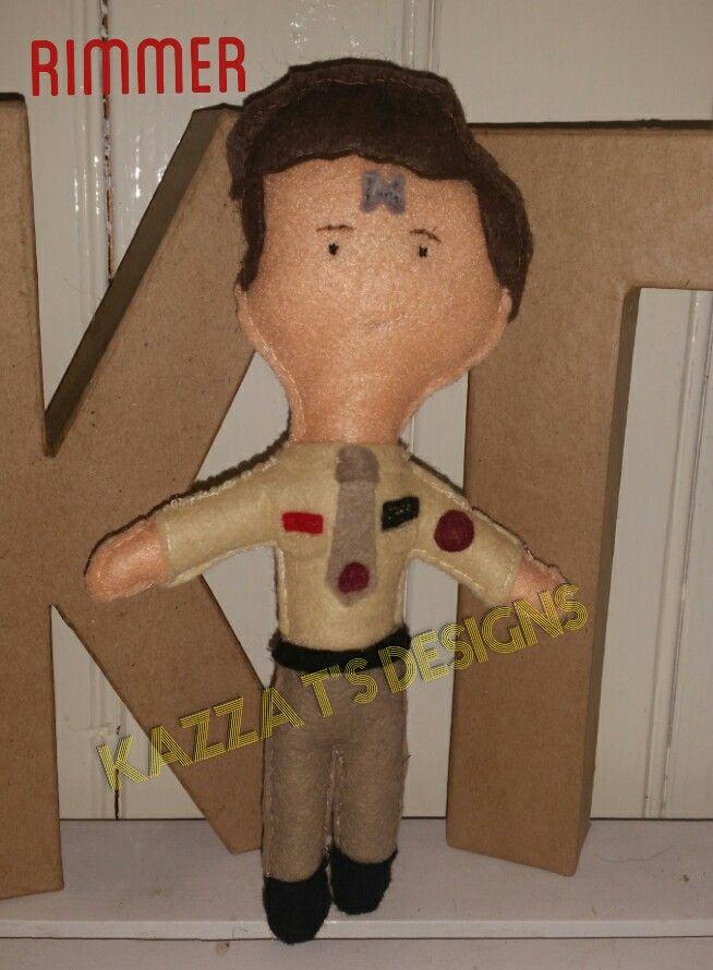 Rimmer handmade felt plush doll, #kazzatsdesigns #feltplushdolls #beingcreative #favecharacters #reddwarf