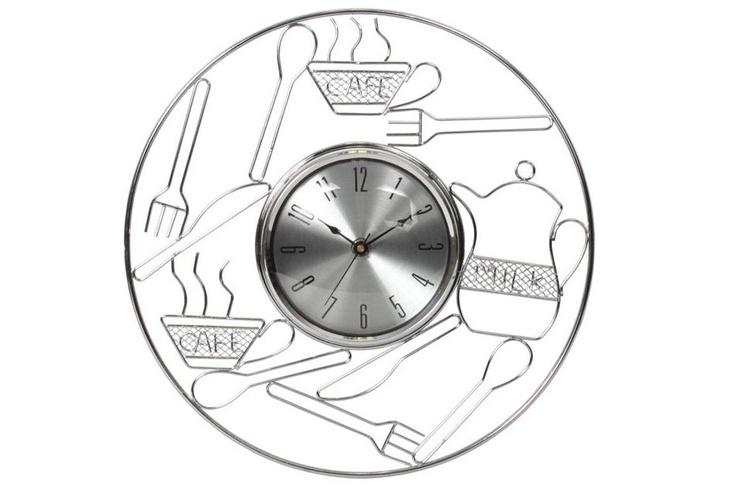 Ceas metalic de perete de bucatarie Tableware