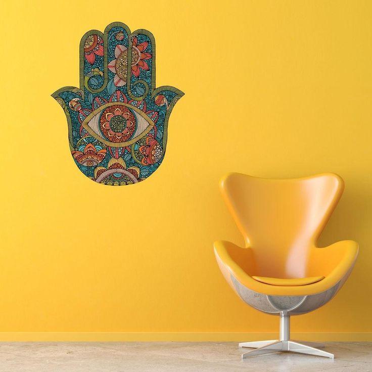 Hamsa Symbolic Wall Art Decal by Valentina Harper