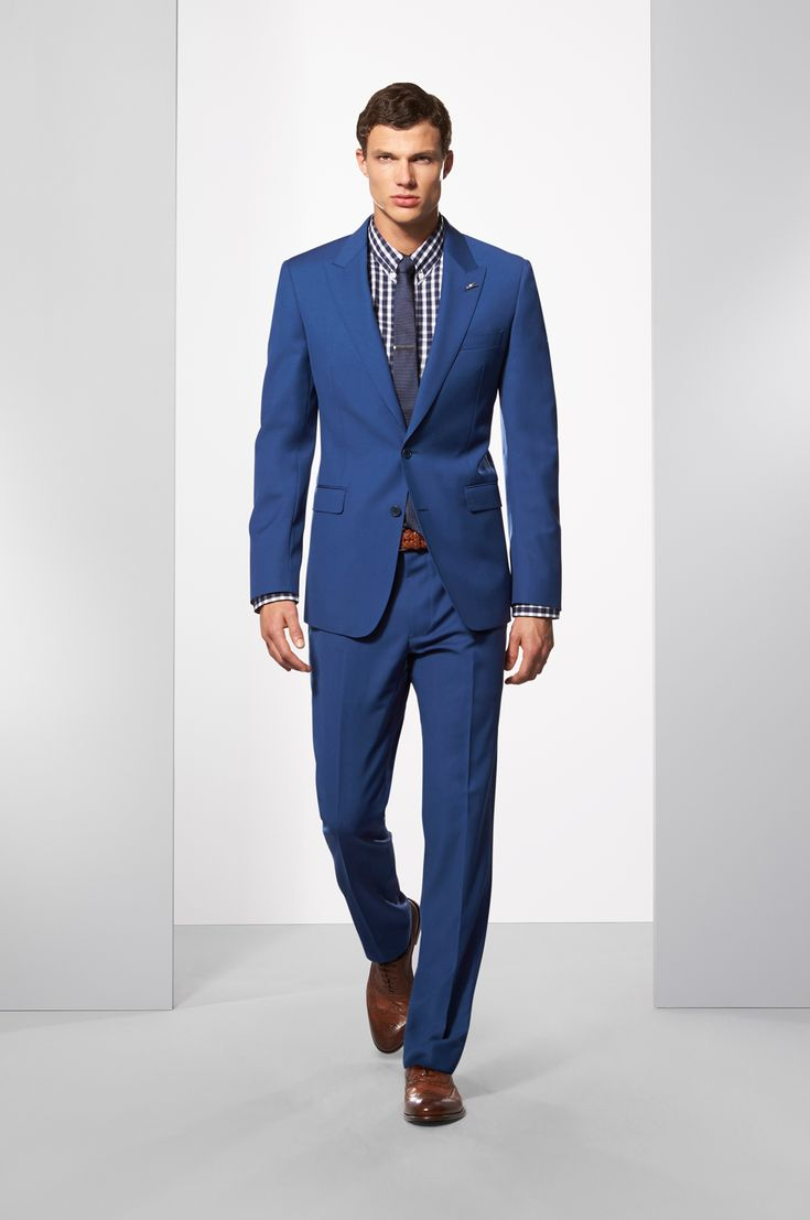 Calibre Suiting AW15 - The Prussian Blue Suit. Shop the look at http://www.calibre.com.au/lookbook/look-165