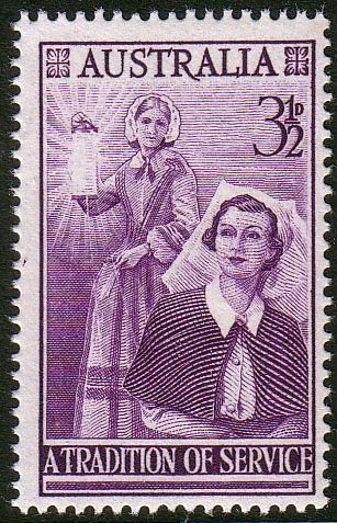 Australia 1955 SG 287 Nursing Profession Fine Mint SG 287 Scott 284 Other Nursing Stamps here