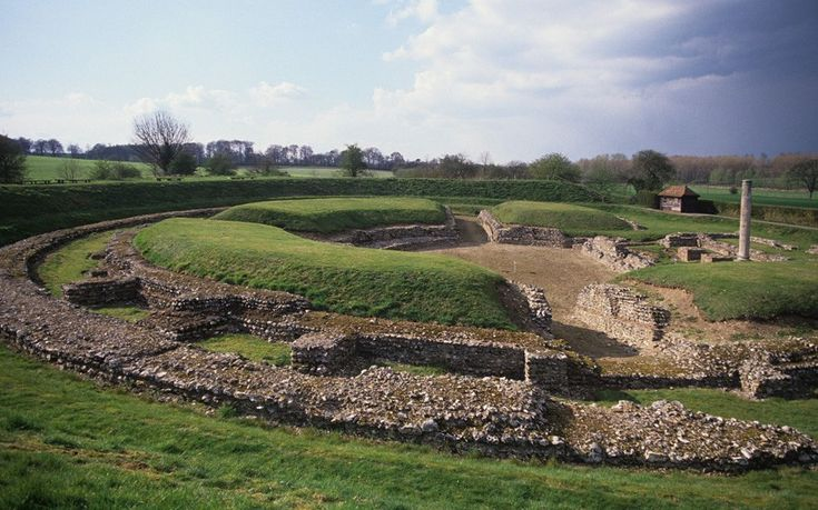 ROMAN settlement in Britain began around 43 AD - Remnants of Roman Britain: Verulamium Roman Amphitheatre