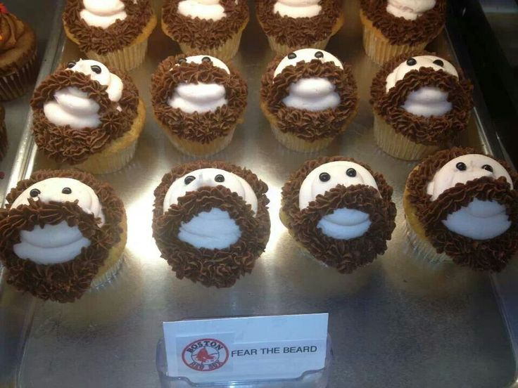Red dox bearded cupcakes