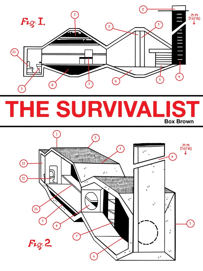 The Survivalist - I don't read comic, but Ilike the graphic of the house.