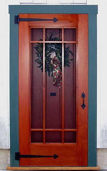 Wooden front door with screen door for Screened front entry