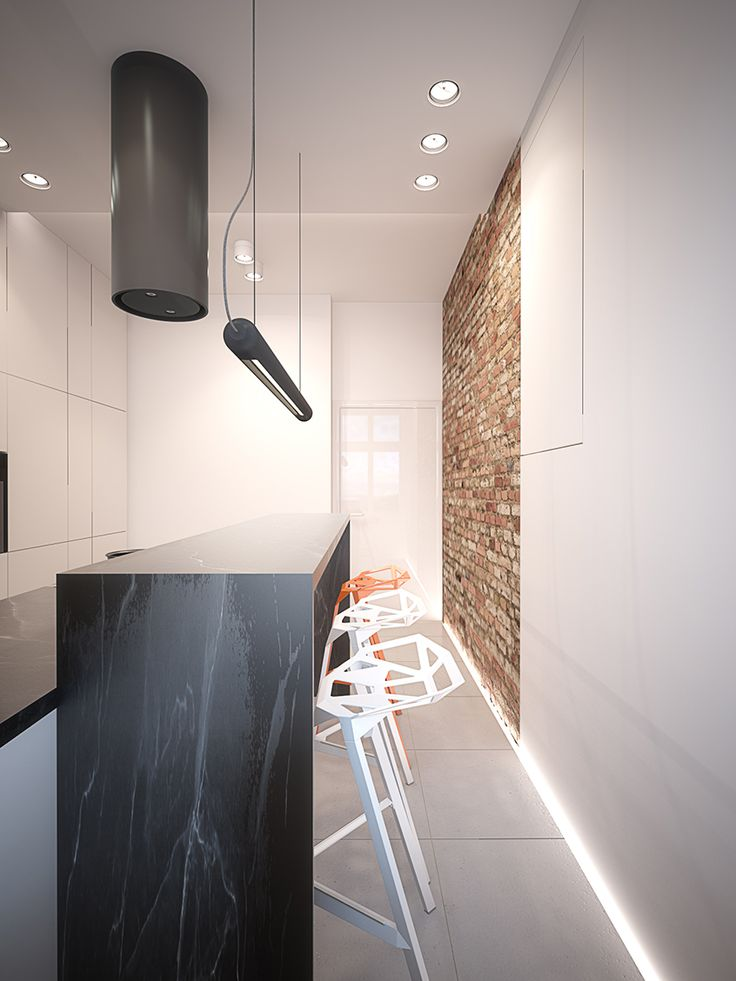 Kitchen design in Gliwice, POLAND - archi group. Kuchnia w mieszkaniu w Gliwicach.