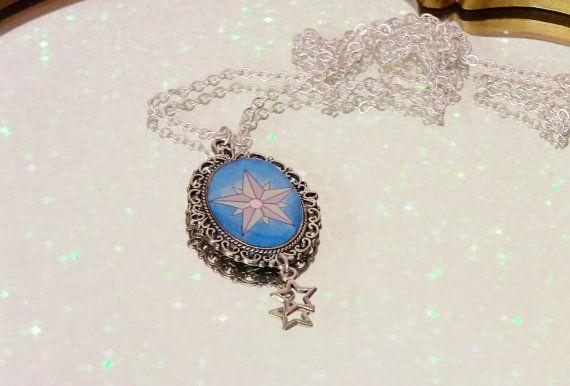 Tarot Ster ketting sieraden Fortune Teller heks zilveren moeders dag Gift Gypsy Art Nouveau ongebruikelijke unieke blauwe kunst hanger