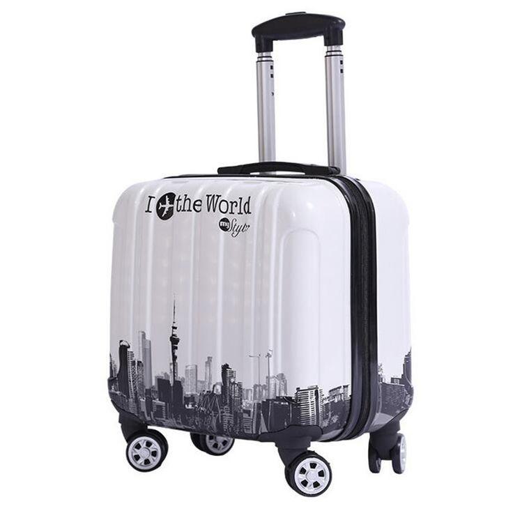 2016 new Portable business trolley suitcase caster 16 inches for men and women suitcase valijas de viaje con ruedas