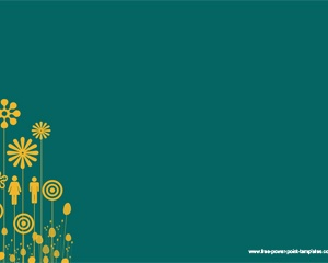 Free Yellow Flowers Powerpoint Template Abstract Powerpoint