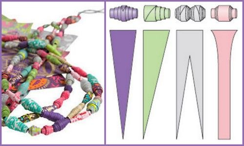 DIY Paper Bead Jewelry. From Better Homes and Gardens here.Best, simplest tutorial I've seen yet. It may even inspire me to get off photoshop and do it.