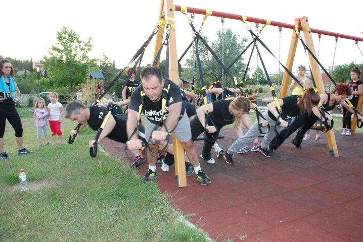 TRX outdoor training  Kinesis-Gym Kilkis  Γυμναστήριο στο Κιλκίς Πληροφορίες  www.kinesis-gym.gr